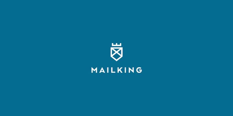 Logotipos mínimos creativos para la inspiración del diseño - Mail King