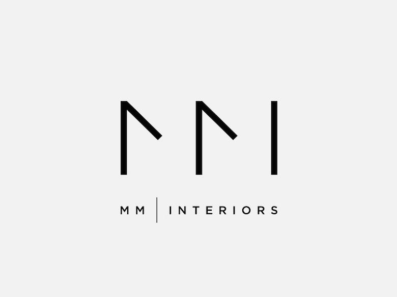 Logotipos minimalistas creativos para la inspiración del diseño - MM Interiors