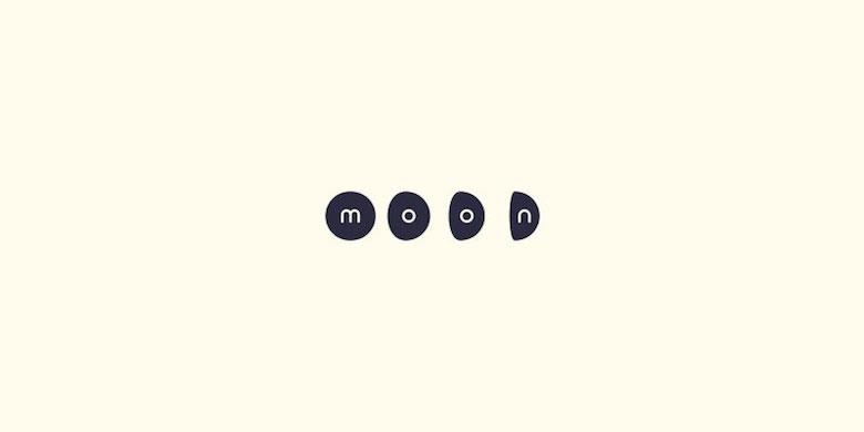 Logos minimalistas creativos para la inspiración del diseño - Luna
