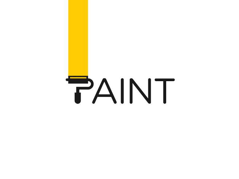 Logos mínimos creativos para la inspiración del diseño - pintura