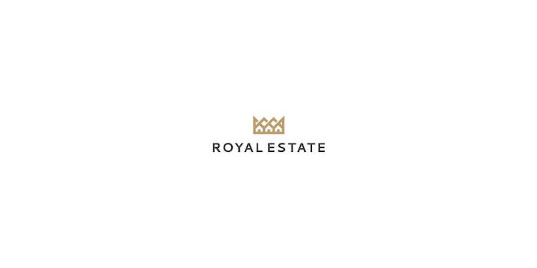 Logos minimalistas creativos para la inspiración del diseño - Royal Estate