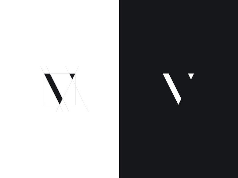 Logos mínimos creativos para la inspiración del diseño - Vincent Tantardini