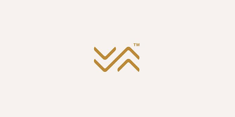 Logos minimalistas creativos para la inspiración del diseño - VAVA