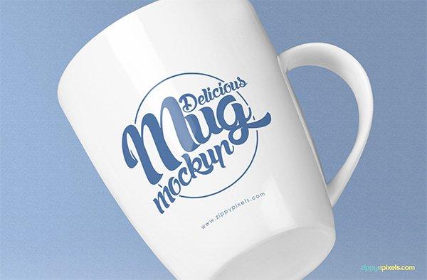 Impresionante taza de café maqueta