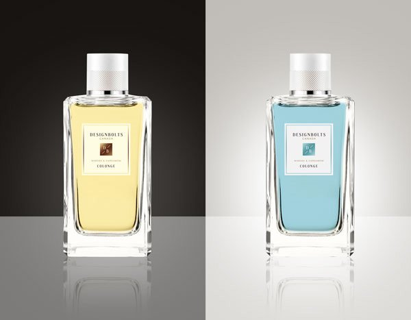 Maqueta de botella de perfume