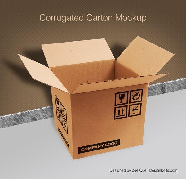Caja de cartón corrugado / caja de empaquetado PSD