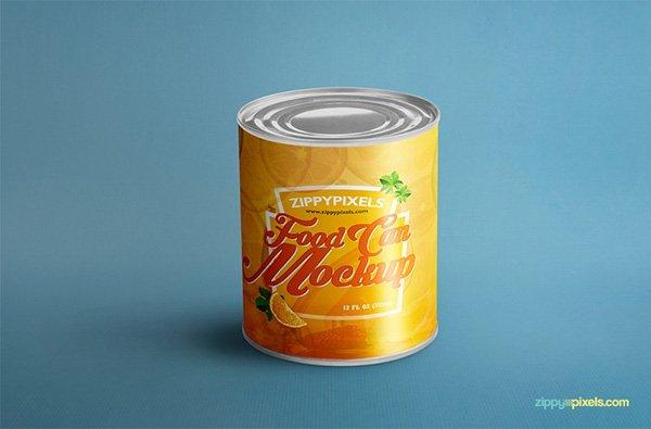 Alimentos pueden maqueta para el embalaje del producto