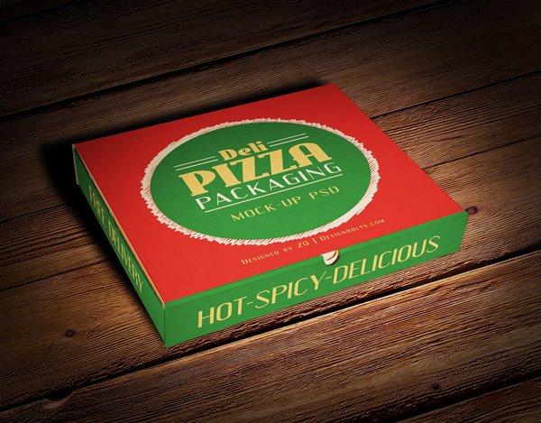 Caja de Pizza Embalaje Maqueta PSD