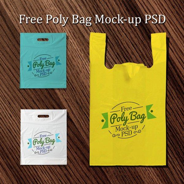 Bolsa de plástico polietileno gratis maqueta PSD