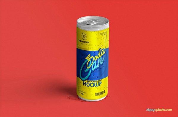Refrescante Soda Lata Maqueta