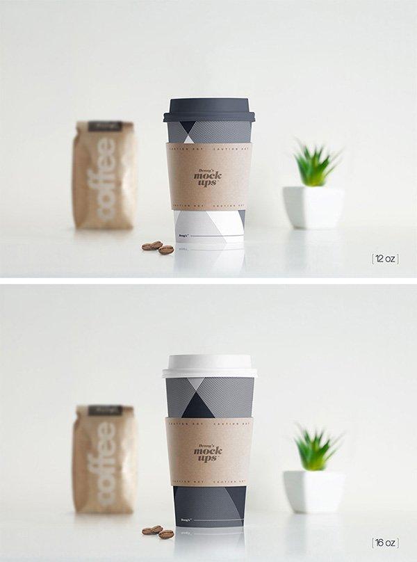 Taza de papel caliente