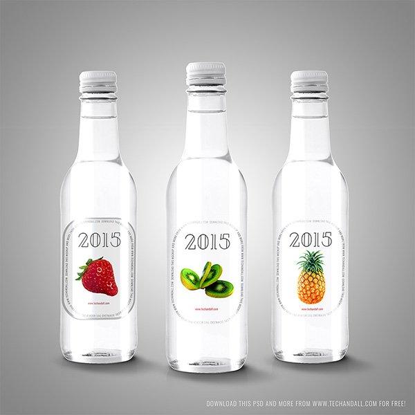 Etiqueta para maqueta de botella