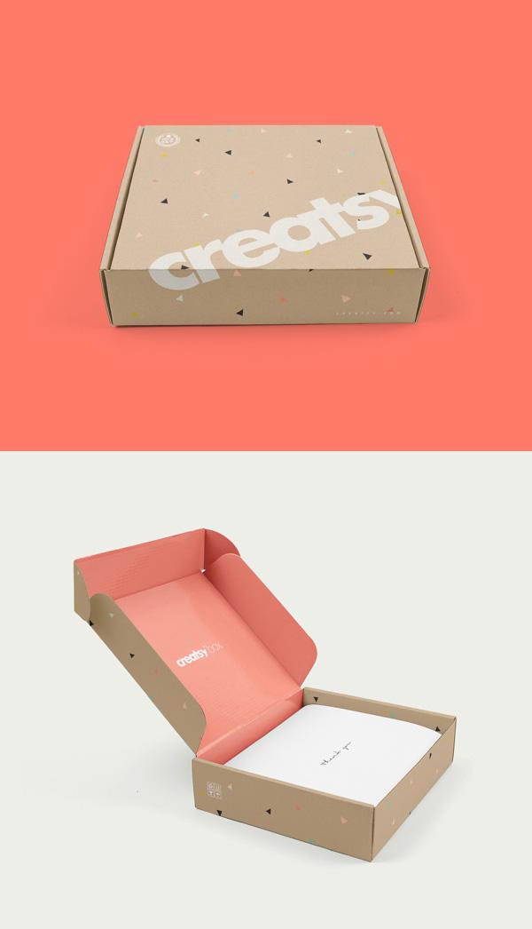 mockups de empaques, Caja de correo PSD MockUp