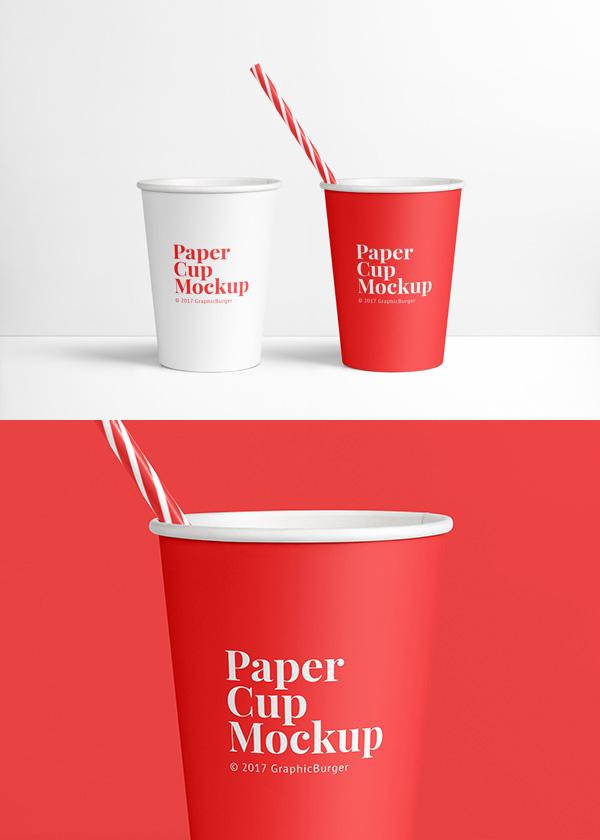 mockups de empaques, Maqueta de la taza de papel
