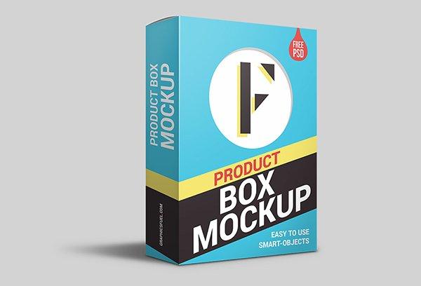 mockups de empaques, Caja de embalaje del producto PSD Mockup