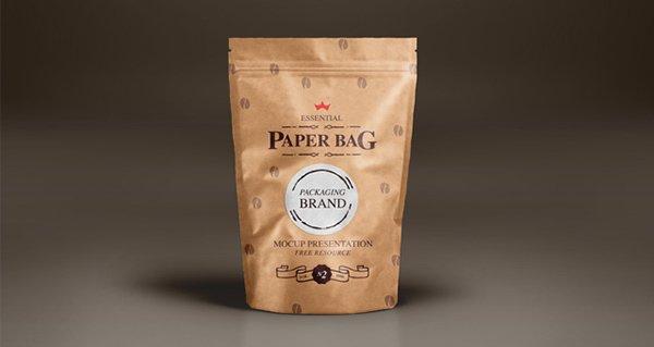 mockups de empaques, Bolsa de papel Vol2 Plantilla PSD