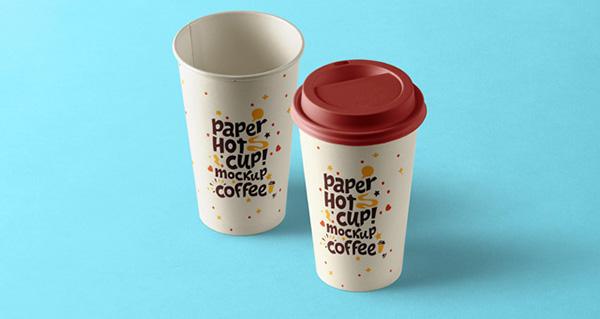 Plantilla de taza de papel caliente