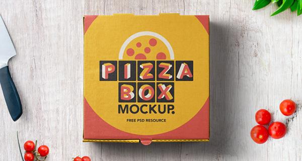 mockups de empaques, Maqueta de caja de pizza
