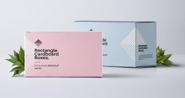 Caja de Psd rectangular maqueta