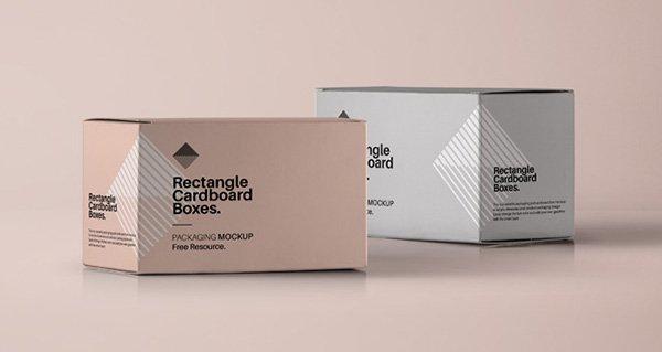 Caja rectangular maqueta