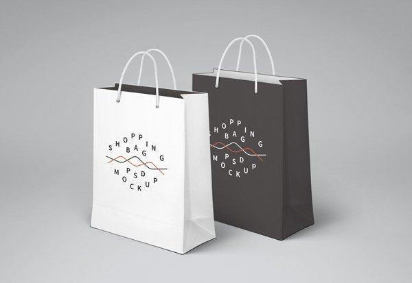 mockups de empaques, Bolsa de compras PSD MockUp