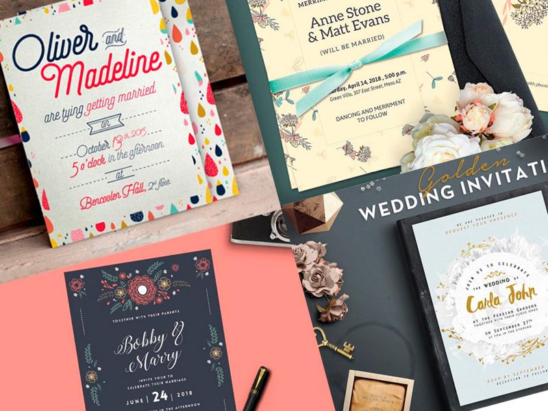 tarjetas de bodas o matrimonio