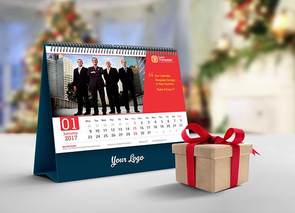 Calendario de escritorio libre-2019-Mockup-PSD