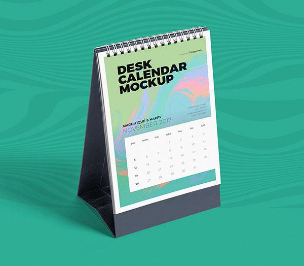 Escritorio libre-Calendario-Maqueta-PSD