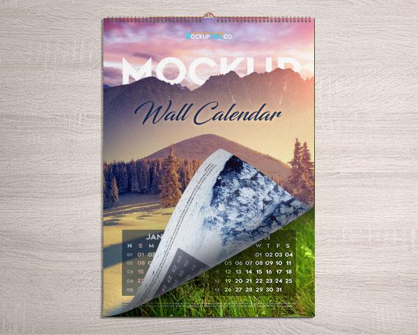 Calendario de pared MockUp