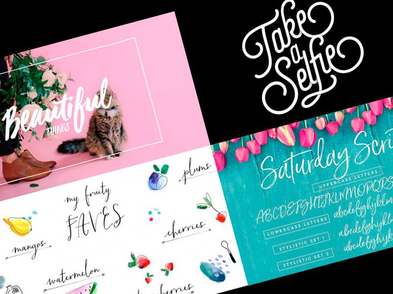 tipografías con glamore