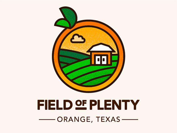 Logotipos de Alimentos, logo del campo de la abundancia