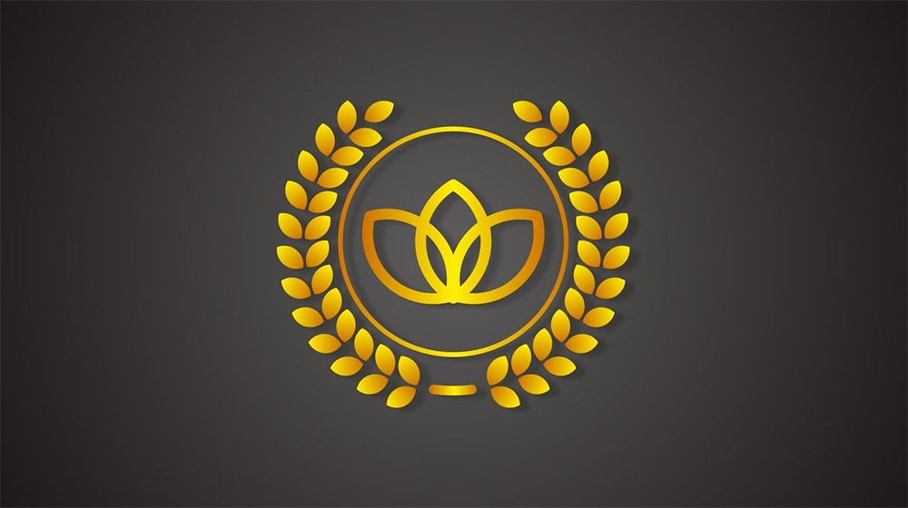 Logo de laurel corona