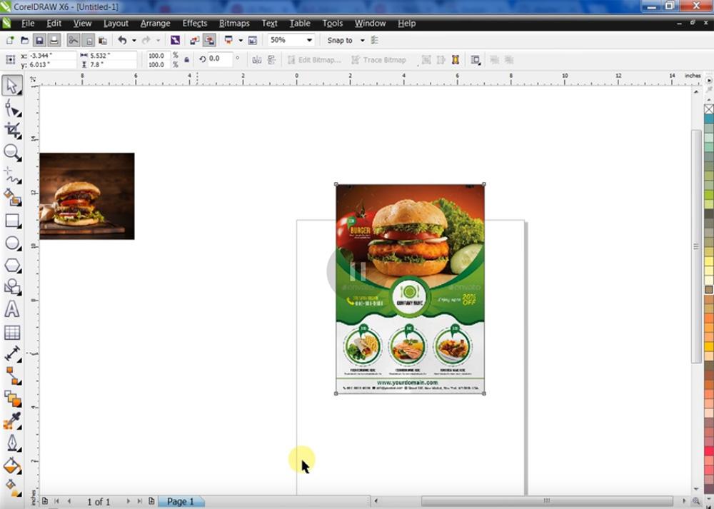 Imprimir hamburguesa volante