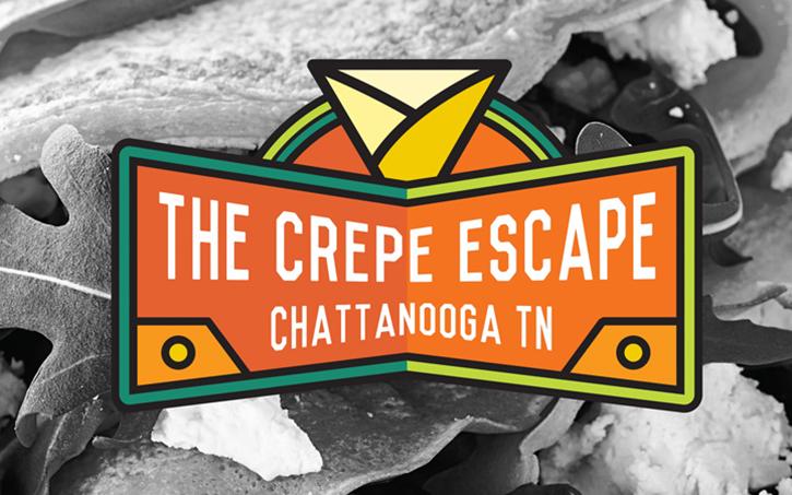 diseño de logotipo de crepe escape