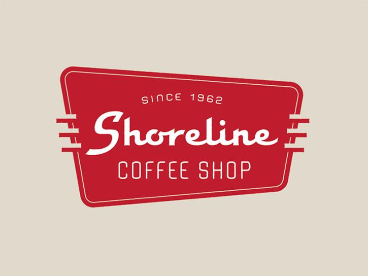 logotipo de la cafetería de la costa