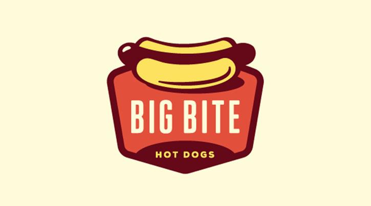 Mejores Logos de comida: logo de hot bite big dogs