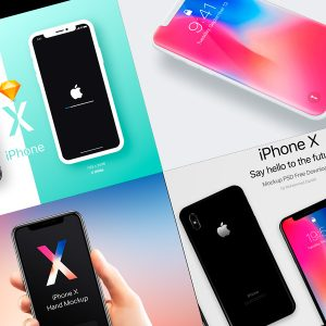Iphone x Mockups - plantillas