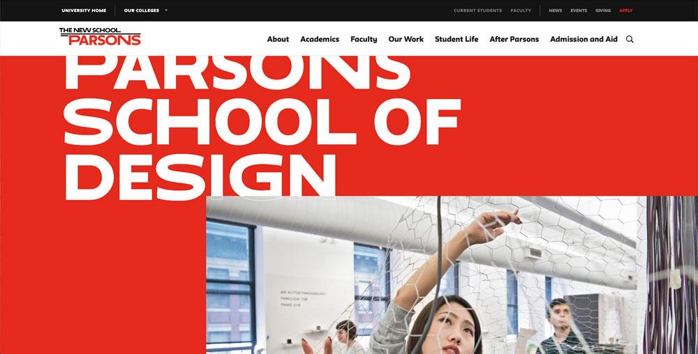 Mejores escuelas para estudiar diseño: Parsons School of Design en la New School.
