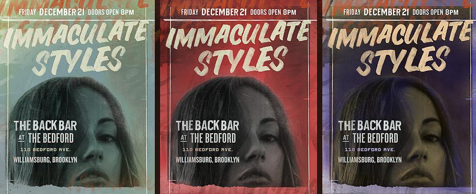 Cartel del concierto de Immaculate Styles.