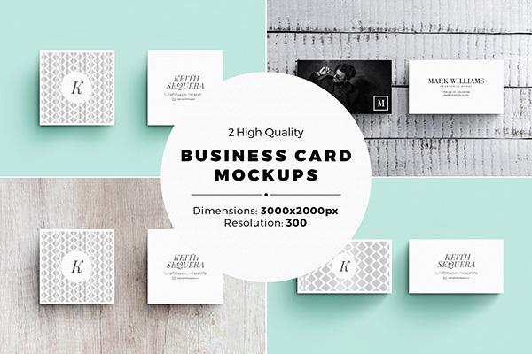 Set de 2 tarjetas de visita