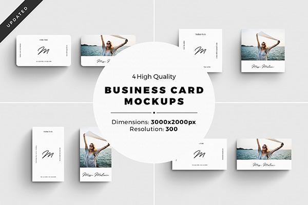 4 tarjetas de visita