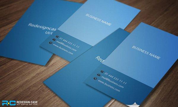 5 tarjetas de visita planas