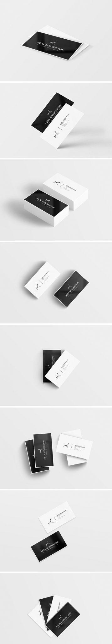 8 maquetas de tarjetas de visita limpias y gratuitas