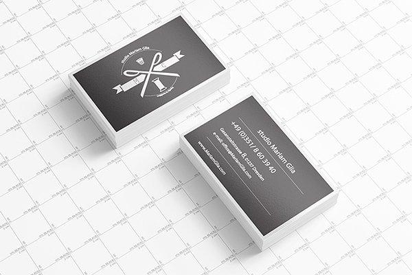 Plantilla de mockups de presentación de tarjeta de visita