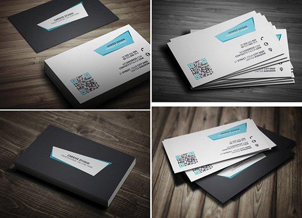 Plantilla de tarjeta de visita creativa PSD Freebie