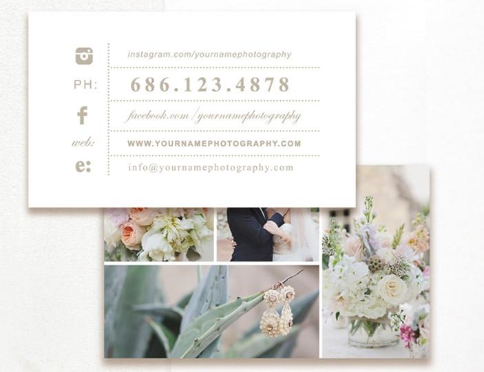 Tarjeta de visita de fotografía editable