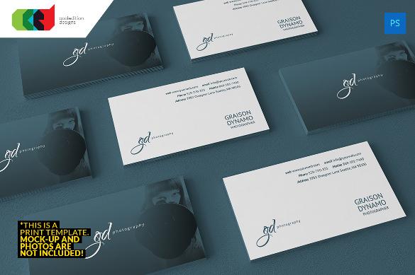 tarjetas de presentación 1 fotografía de élite tarjeta de visita