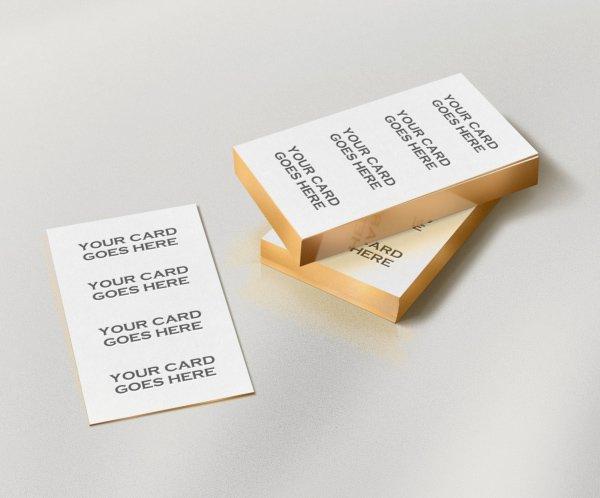 Gratis Gold Edge Letterpress Bcard Mock-up