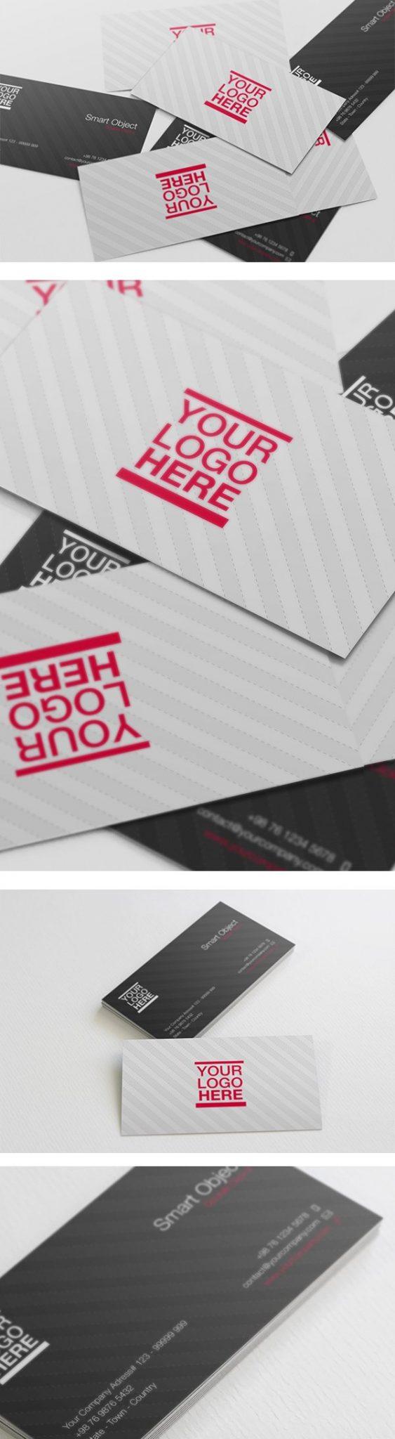 Tarjeta de visita de mockups PSD gratis vol. 1