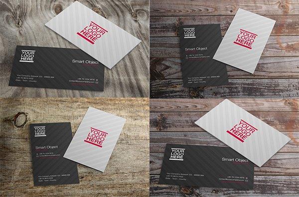 Tarjeta de visita de mockups PSD gratis vol. 2